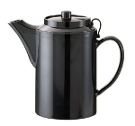 Service Ideas TST612BL 16-oz Dripless Teapot w/ Tether, Baffled Spout, Black
