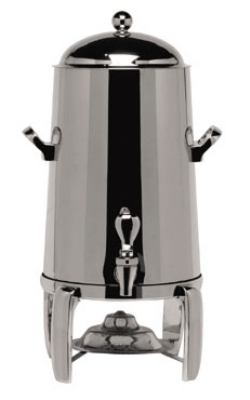 Service Ideas URN30VPS 3-Gallon Vacuum Insulated Urn, Polished Stainless w/ Chrome Accent
