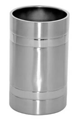 Service Ideas WC2MBBS Wine Chiller, Brushed Stainless w/ Polished Band Accent