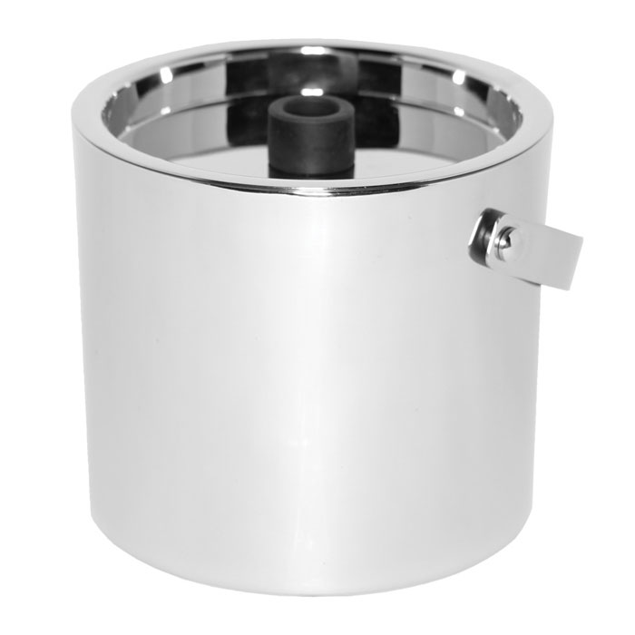 Service Ideas SM-1 2.4-qt Ice Bucket, Double Wall Insulation & Lid w/ Silicone Knob, Mirror Finish