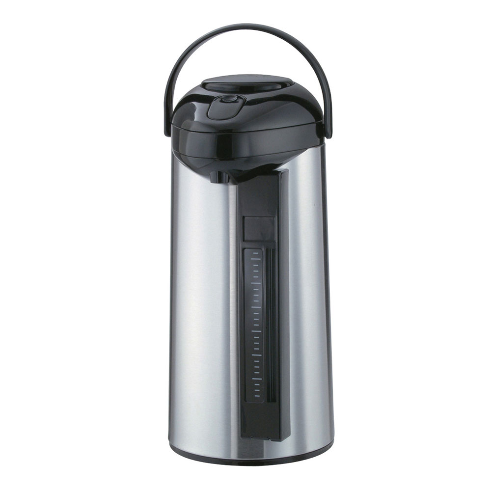Service Ideas SSA300SG 3-liter Airpot w/ Interchangeable Pump Lid, Sight-Glass
