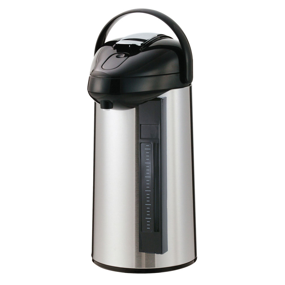 Service Ideas SSAL300SG 3-liter Airpot w/ Interchangeable Lever Lid, Sight Glass