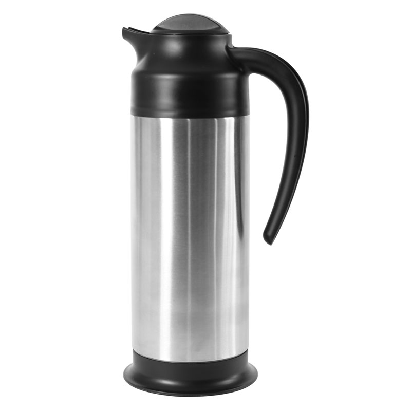 Service Ideas SSN100 33.8-oz Vacuum Carafe w/ 6-hr Retention & Screw-on Lid, Stainless