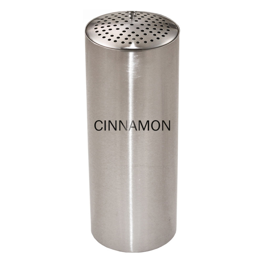 Service Ideas STCMULTICINN Condiment Shaker w/ Cinnamon Imprint, Multiple Holes, Stainless