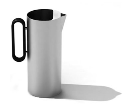 Service Ideas SB-23 64-oz Water Pitcher w/ Silicone Handle & Ice Guard, 4.25 x 9.5""