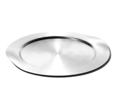 Service Ideas SB-40 16-in Round Tray w/ Contoured Handles, Stainless, Brushed Finish