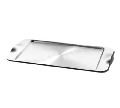 Service Ideas SB-42 Rectangular Tray w/ Contoured Handles, 20 x 11-in, Stainless, Brushed Finish