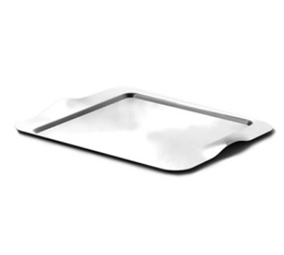 Service Ideas SB-43 Rectangular Tray w/ Contoured Handles, 16 x 13-in, Stainless, Brushed Finish