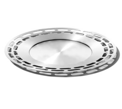 Service Ideas SB-47 15-in Heavy Round Tray, Stainless, Brushed Finish
