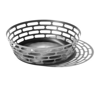 """Service Ideas SB-63 12"""" Round Fruit Bowl, Stainless w/ Brushed Finish"""