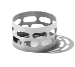 Service Ideas SB-67 1.5-in Napkin Ring Set, Stainless, Brushed Finish