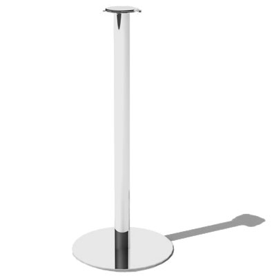 Service Ideas SM-4 Bucket Stand w/ 25 x 10-in Base, Stainless, Mirror Finish