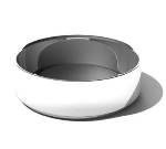 "Service Ideas SM-46 6.9-qt Serving Bowl w/ Double Wall Insulation, 10 x 3.2"", Mirror Finish"