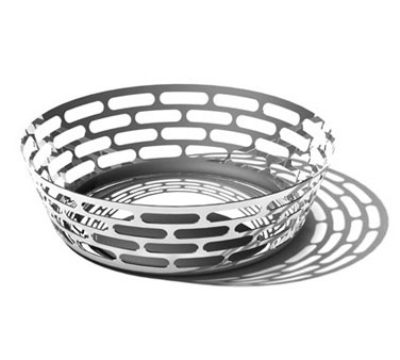"Service Ideas SM-63 12"" Round Fruit Bowl, Stainless w/ Mirror Finish"