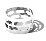 Service Ideas SM-67 1.5-in Napkin Ring Set, Stainless, Mirror Finish