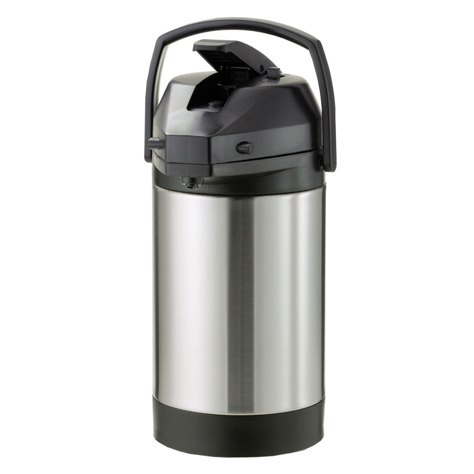 Service Ideas SVAP30L 3-liter Economy Airpot w/ Interchangeable Lever Lid, Stainless