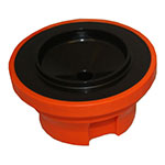 Service Ideas SVPLIDOR 2-Pack Replacement Decaf Brew-Thru Lids For SHS19S Servers, Orange