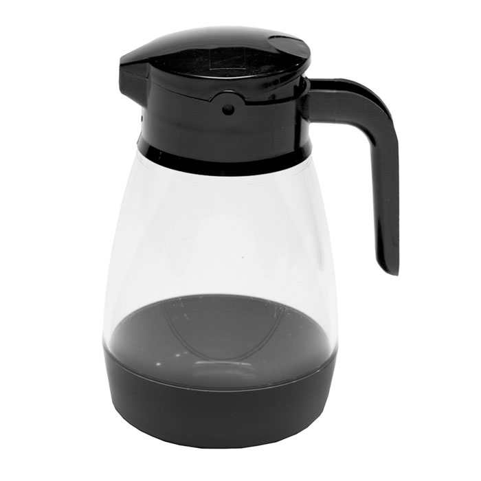 Service Ideas SY916BL 16-oz Dripless Syrup Dispenser w/ Locking Lid, Black