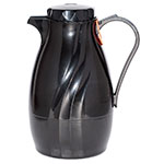 Service Ideas TNS40BL 1.2-liter Coffee Server w/ Twist-On Lid, Content Indicator, Black
