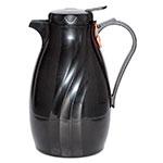 Service Ideas TNSPB20BL .6-liter Twist & Serv Coffee Server w/ Push Button Lid, Black