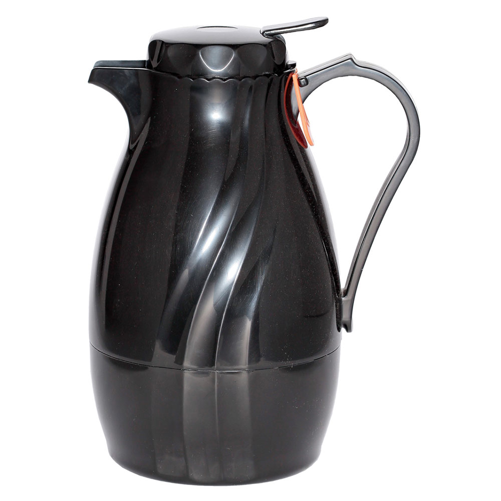 Service Ideas TNSPB60BL 2-liter Twist & Serv Coffee Server w/ Push Button Lid, Black