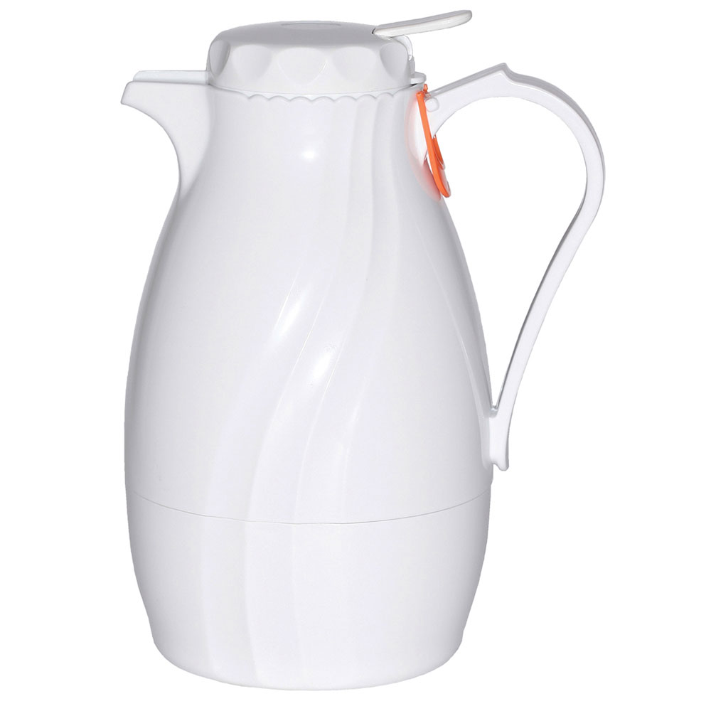 Service Ideas TNSPB60WH 2-liter Twist & Serv Coffee Server w/ Push Button Lid, White