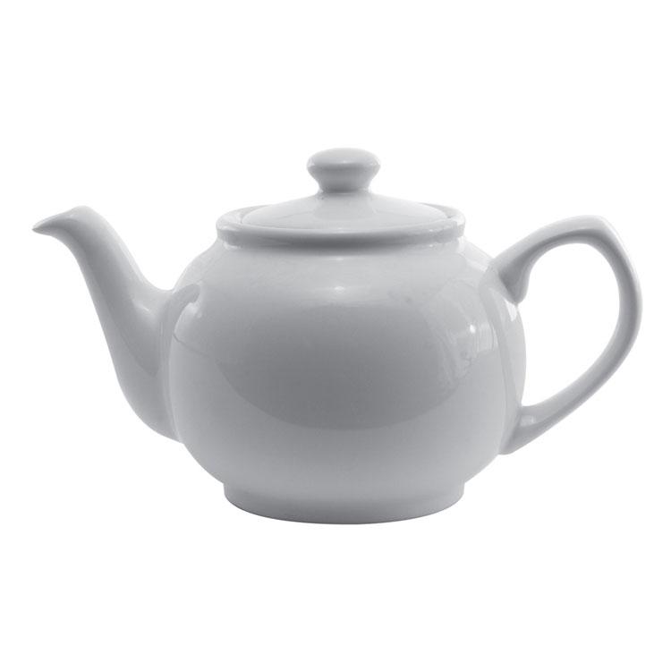 Service Ideas TPCE16WH 16-oz English-Style Teapot, White ...