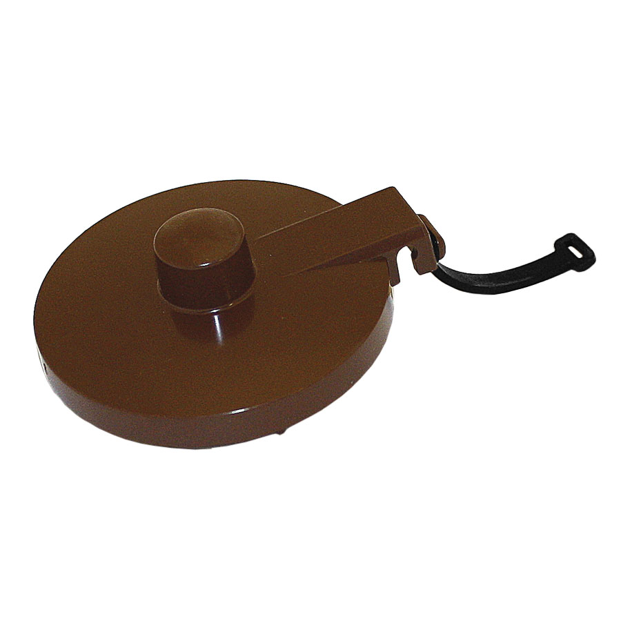 Service Ideas TPLTBR Replacement Lid w/ Tether For TS612 Teapot, Brown