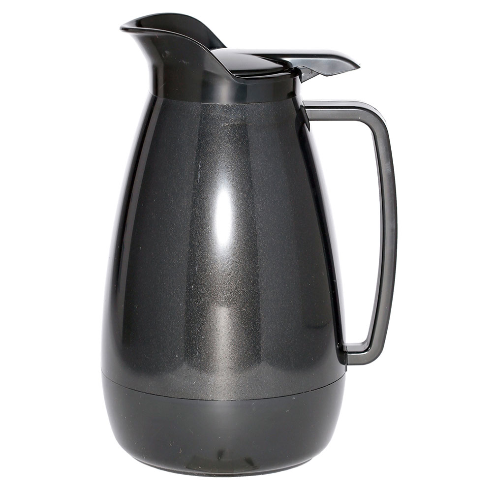 Service Ideas TS101BL 1-liter Coffee Server w/ Flip Top, Smooth Body, Black