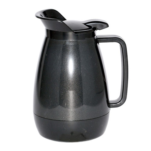 Service Ideas TS501BL .6-liter Coffee Server w/ Flip Top, Smooth Body, Black