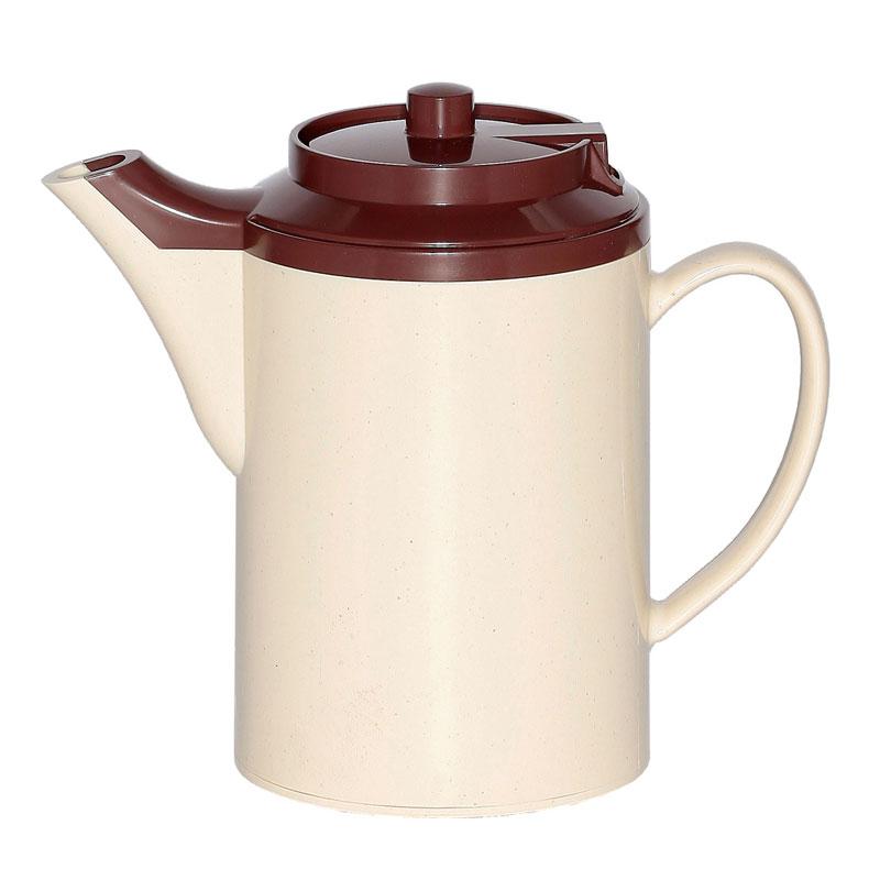 Service Ideas TS612ST/BR 16-oz Dripless Teapot w/ Baffled Spout, Stoneware & Brown