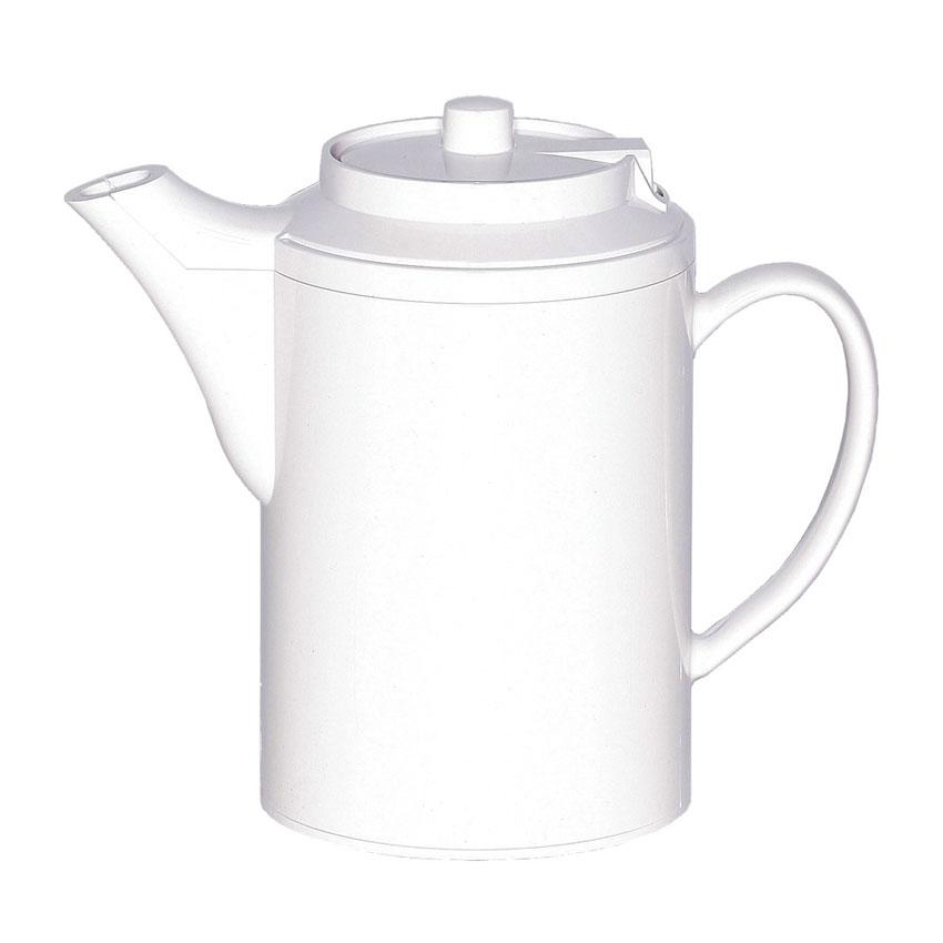 Service Ideas TS612WH 16-oz Dripless Teapot w/ Baffled Spout, Self-Locking Lid, White
