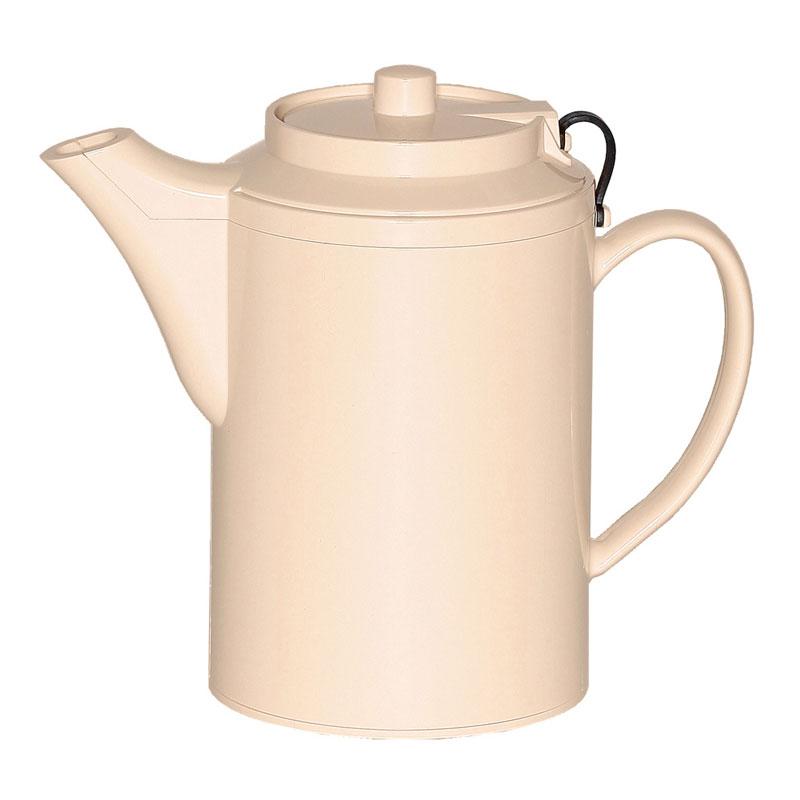 Service Ideas TST612AL 16-oz Dripless Teapot w/ Tether, Baffled Spout, Almond
