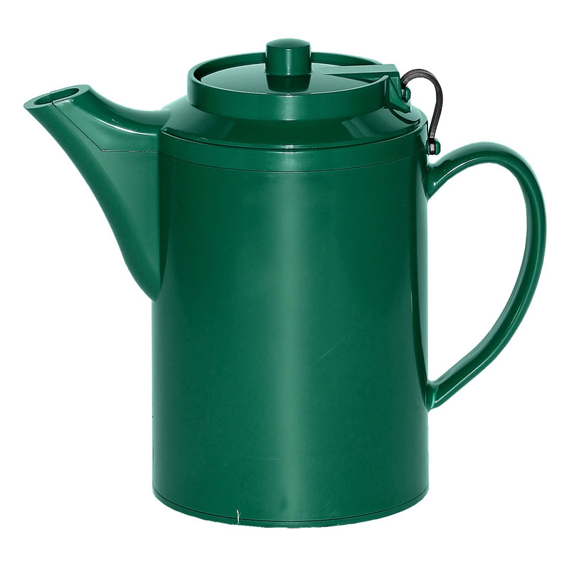 Service Ideas TST612FG 16-oz Dripless Teapot w/ Tether, Baffled Spout, Forest Green