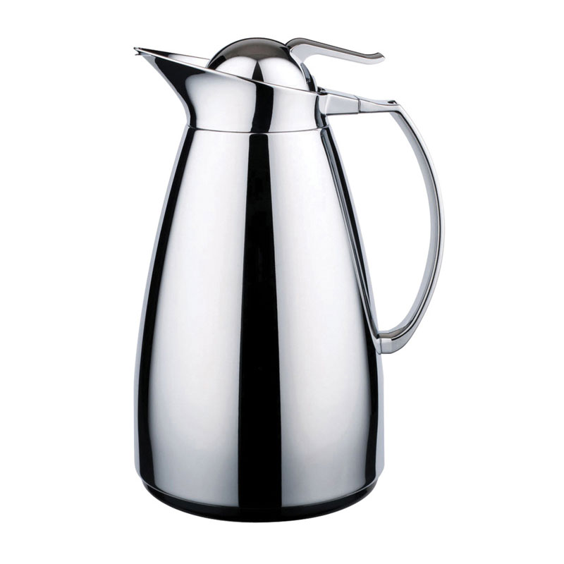 Service Ideas CJZS1CH 1-liter Coffee Server w/ Stainless Interior, Chrome
