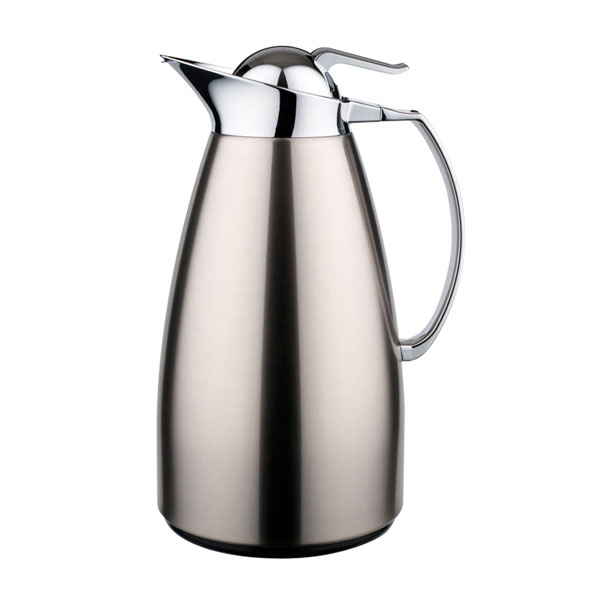 Service Ideas CJZS6BS .7-liter Coffee Server w/ Stainless Interior, Brushed Stainless