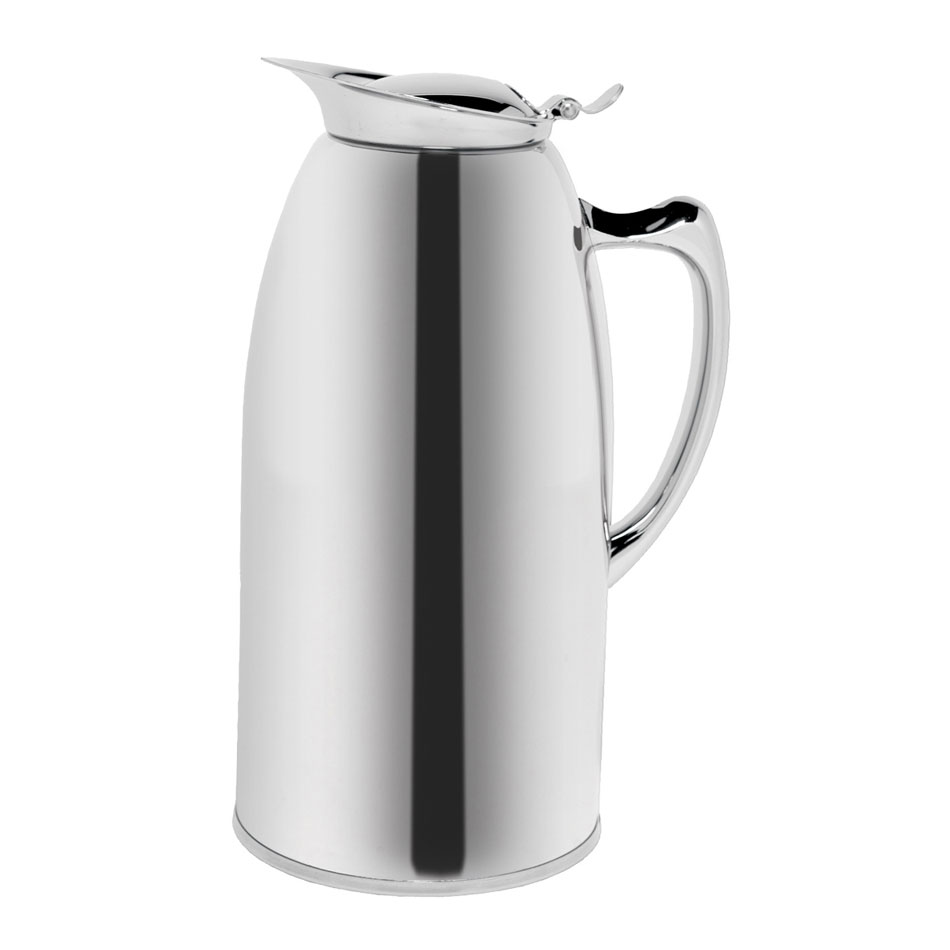 Service Ideas WP15CH 1.5-liter Pitcher w/ Double-Wall Insulation, Polished Stainless