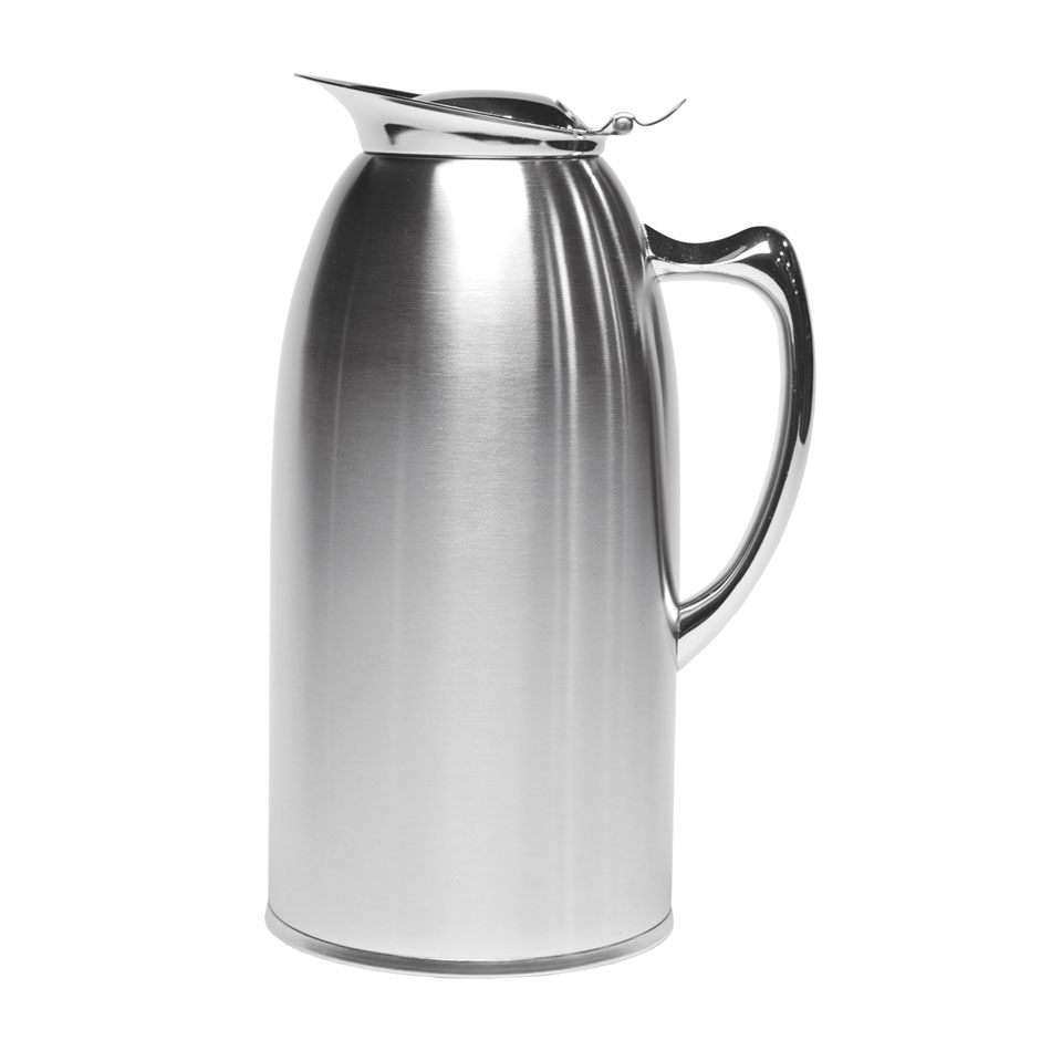 Service Ideas WP15SA 1.5-liter Pitcher w/ Double-Wall Insulation, Brushed Stainless
