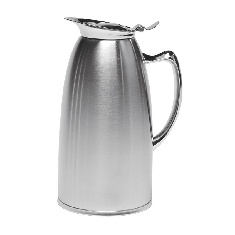 Service Ideas WP1SA 1-liter Pitcher w/ Double-Wall Insulation, Brushed Stainless