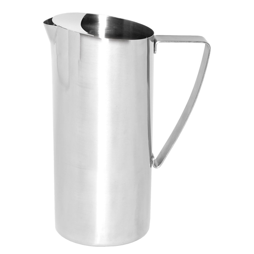 Service Ideas X7025BS 64-oz Water Pitcher w/ Ice Guard - Stainless