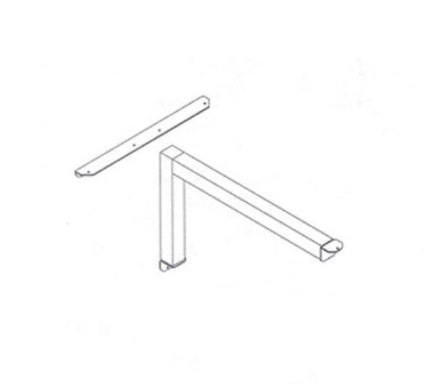 Waymar 0115 Cantilever Table Support, 2 in Square Tubular Steel, Up To 30 in Top Length