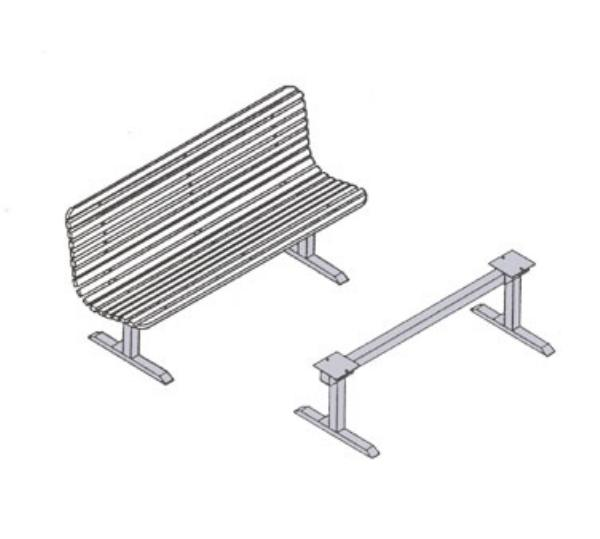 Waymar Industries 060744 Ranger Support Single Style Bench Seats Up To 49 in L Black Restaurant Supply