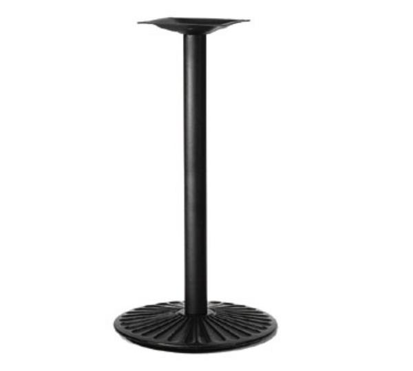 Waymar 7022424 Table Base, 4 in Column, 22 in Diameter Base Spread, 42 in Bar Height