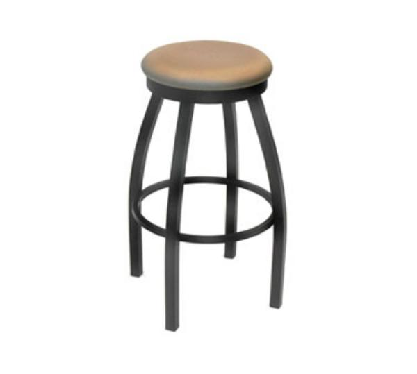 Waymar B1115S Pub Bar Stool, 1-1/2 in Round Upholstered S