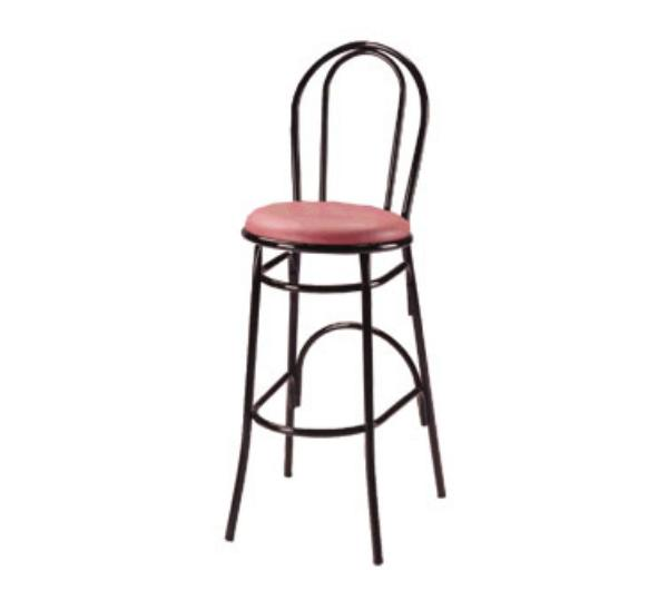 Waymar B1210 Parlor Bar Stool, Metal Open Hairpin Back, 1-1/2 in Upholstered Seat