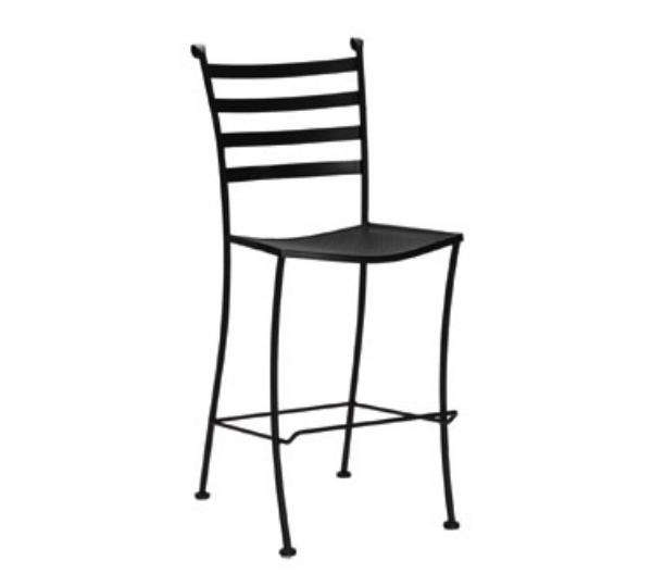 Waymar B1816 Patio Barstool, Ladder Back, Wrought Iron