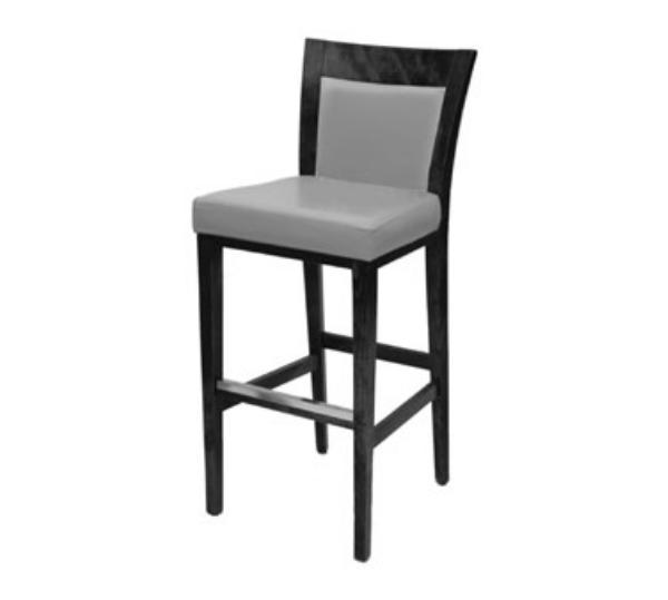 Waymar B822U Tuscan Bar Stool, Wood & Upholstered Back, 1-1/2 in Upholstered Seat