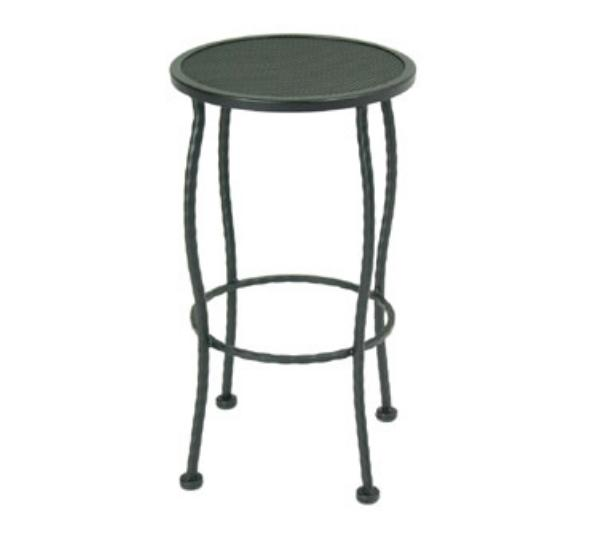 Waymar B847 Patio Barstool, Round Seat, No Back, Wrought Iron