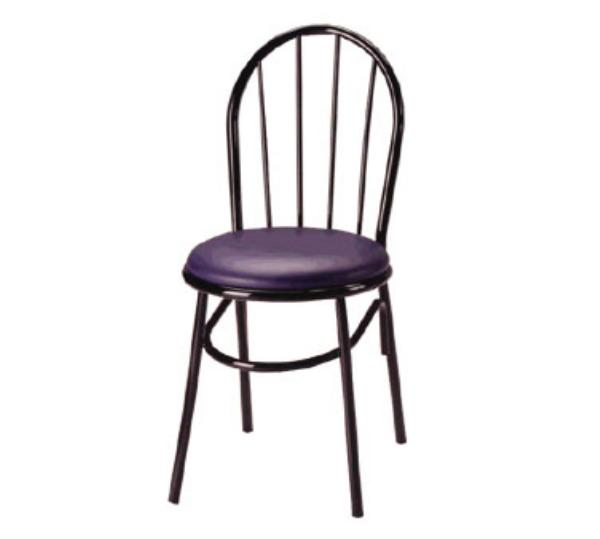 Waymar C250 Parlor Side Chair, Metal Spoke Back, 1-1/2in Upholstered Seat