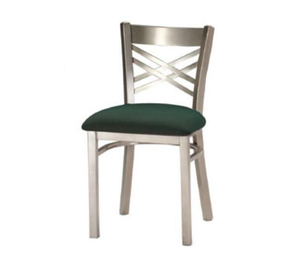 Waymar C310 Park Avenue II Side Chair, Metal Criss-Cross Back, 1-1/2in Upholstered Seat